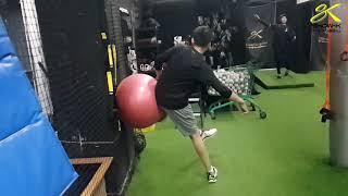 쇼케이 스포츠 베이스볼 투수 히프리딩 연습
