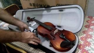 Desembalando Violino Christina V02 Importado no AliExpress (Unboxing)