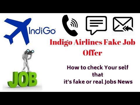 Indigo Airlines Fake Job Offer - How To Check Your Self That It's Fake Or Real Jobs News