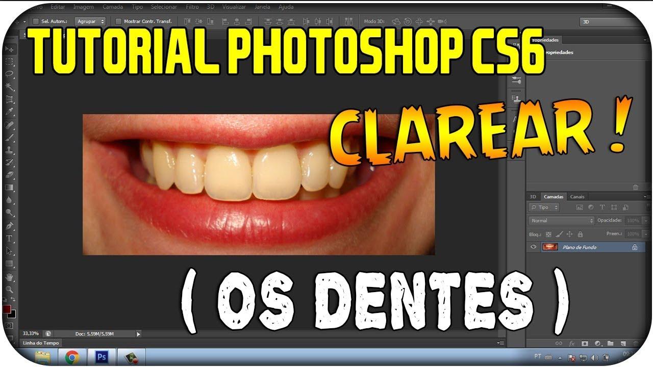 Tutorial Photoshop Cs6 Como Clarear Os Dentes Youtube
