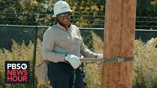 An electrical line worker's Brief But Spectacular take on empowering her community