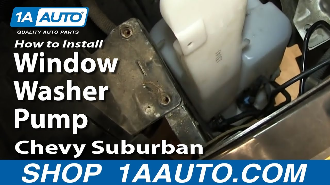 How To Install Replace Rear Window Washer Pump 2000 06 Chevy 02 Suburban 5 3l Fuse Box Tahoe Gmc Yukon