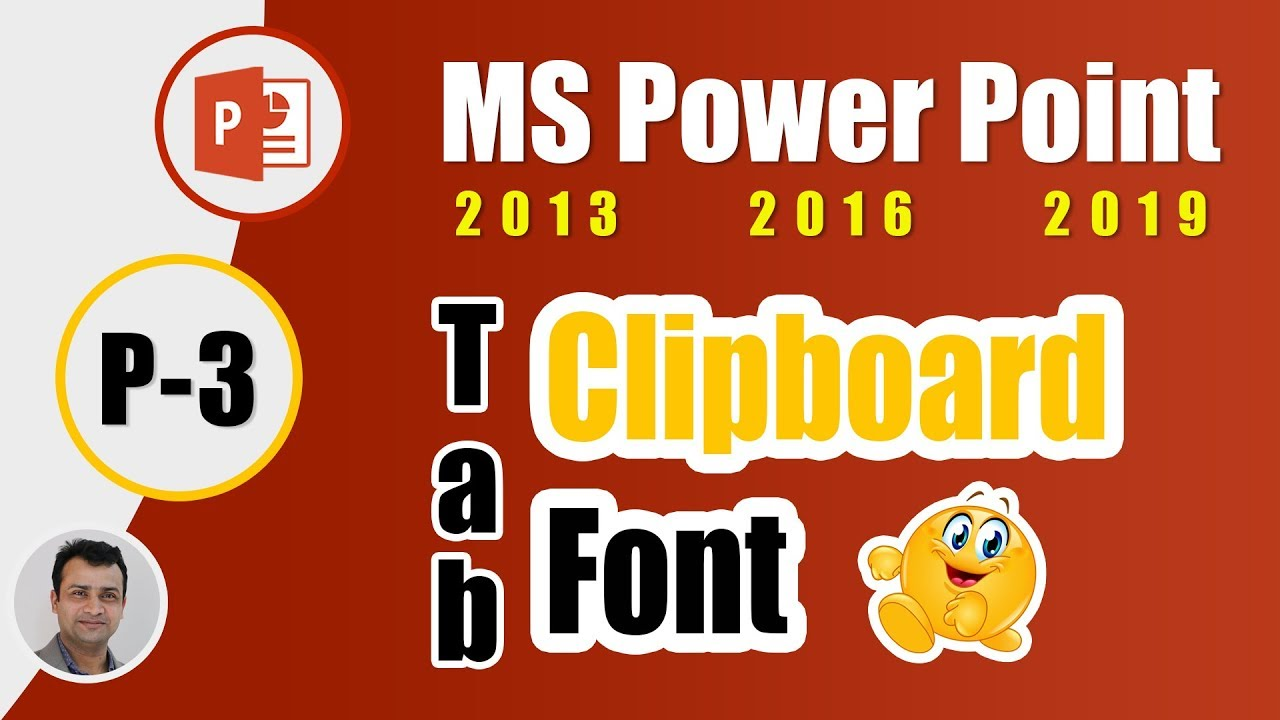 3. MS PowerPoint 2019 Bangla Tutorial- Clipboard, Format Painter, Font Tab