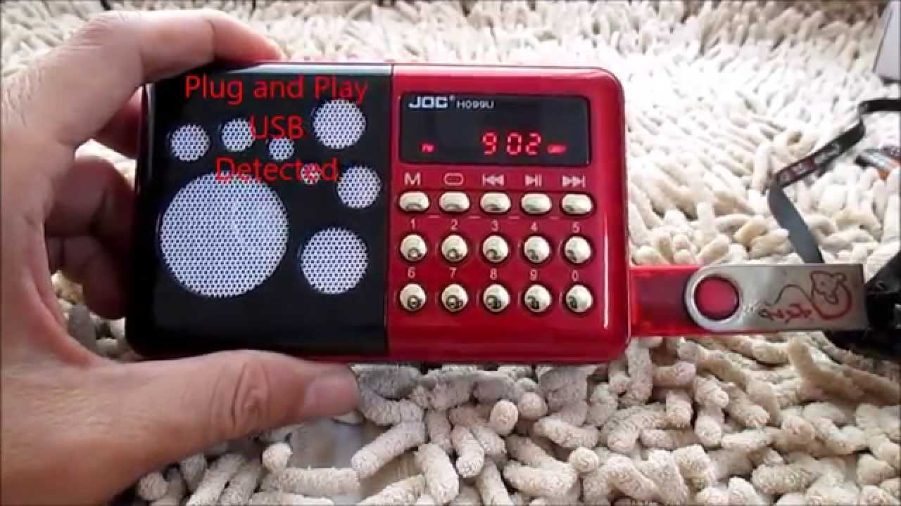 How to Operate digital JOC FM Radio MP3 PenDrive Sdcard Player