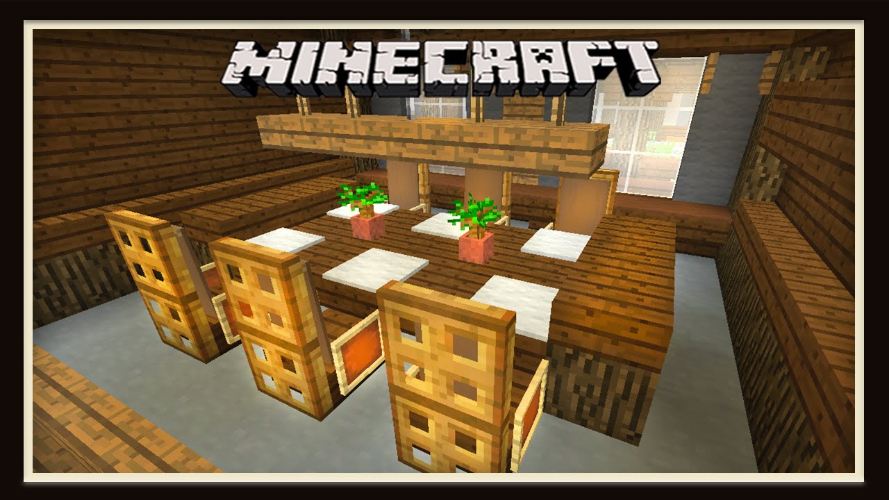 Minecraft: Dining Room Furniture Design ( How To Build A House ... on small kitchen in minecraft, bedroom design in minecraft, interior design ideas in minecraft,
