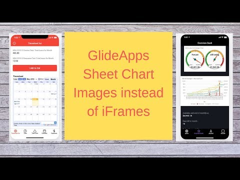 GlideApps Sheet Chart Images Instead Of IFrames