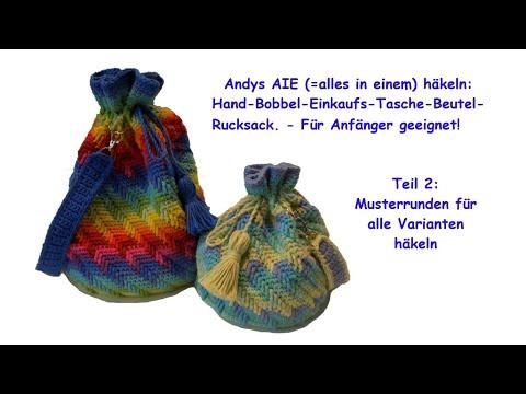 andys-aie-teil-2:-muster---runden-für-runde-und-rechteckige-tasche-häkeln---auch-für-anfänger