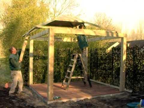 Prieel van hout hortensia t212 youtube - Prieel frame van ...