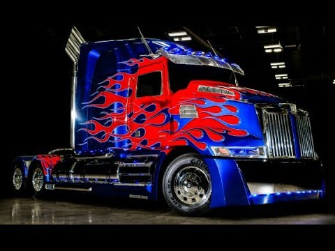 Transformers Raffica Cars And Real Optimus Prime Truck Age of Extinction
