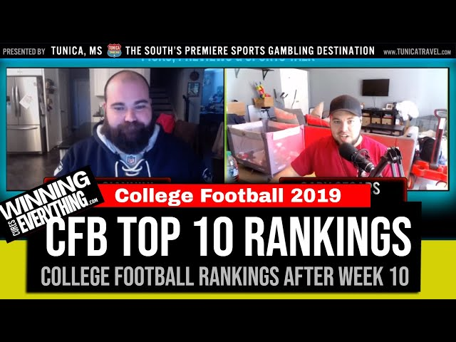 WCE: 2019 College Football Top 10 Rankings (after Week 10)