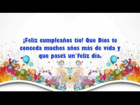 Felicidades Hoy En Tu Cumpleaños Tío Frases Para Un Día