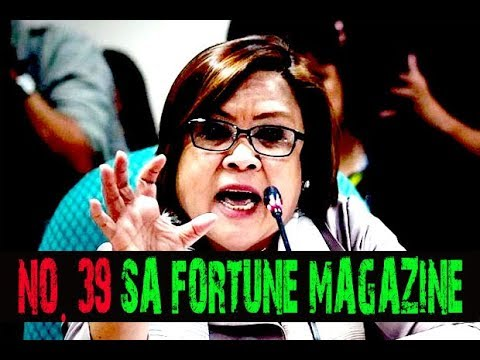 LEILA DE LIMA PASOK PARIN SA WOLRD'S 50 GREATEST LEADER NG FORTUNE MAGAZINE