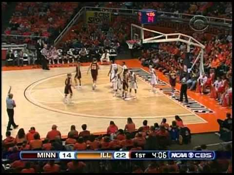Big Ten Basketball: Minnesota vs. Illinois (Jan. 3rd, 2009)