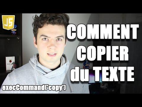 COMMENT COPIER Du TEXTE En JAVASCRIPT