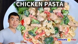 How to Cook  Chicken Pasta with Creamy Basil Sauce