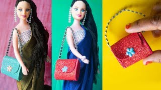 DIY Miniature Bags 👜 Easy Miniature Bag:Purse Tutorial for Barbie Doll ❤️ DIY Barbie Craft