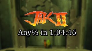 Jak II - Any% Speedrun in 1:04:46