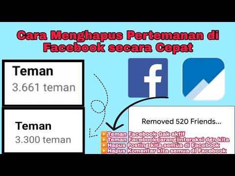 Cara Menghapus Pertemanan di Facebook Sekaligus Secara Massal.