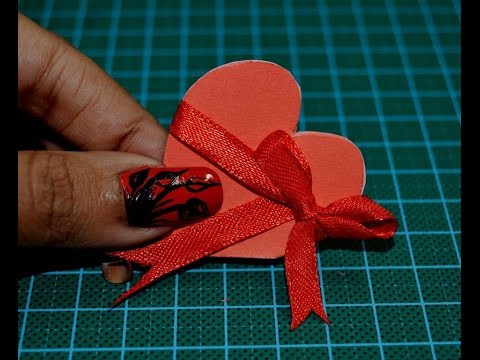 How to Make a Heart Shaped Card 💝 💝