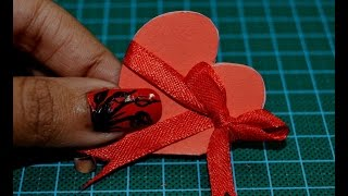 How to Make a Heart Shaped Card 💝 💝