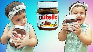 Super Celina And Hassouna hide Nutella Chocolate - سيلينا ونوتيلا شوكولاطة