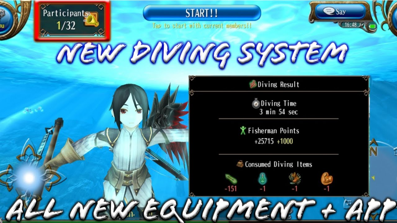 Toram Online - New Diving Summer Event 2019! Giant Octopus Back! With New  Equipment Stats and App!