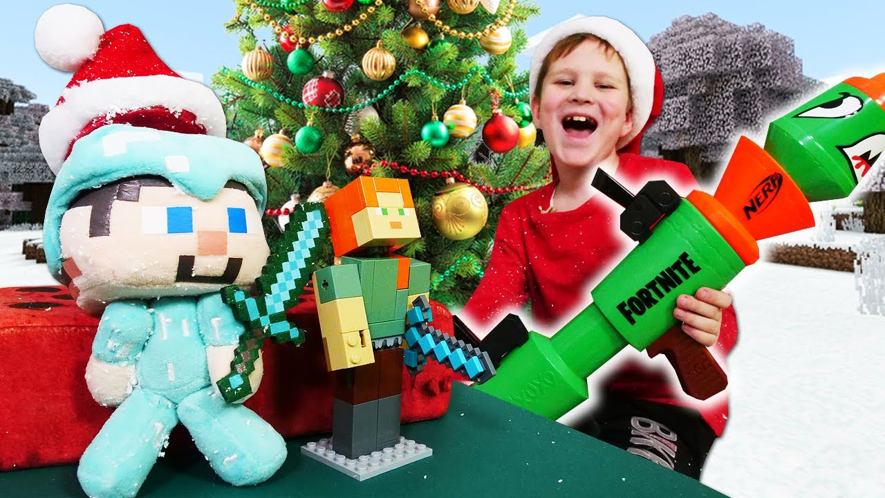 Игры для мальчиков - Стив Майнкрафт и подарок на Новый Год ...