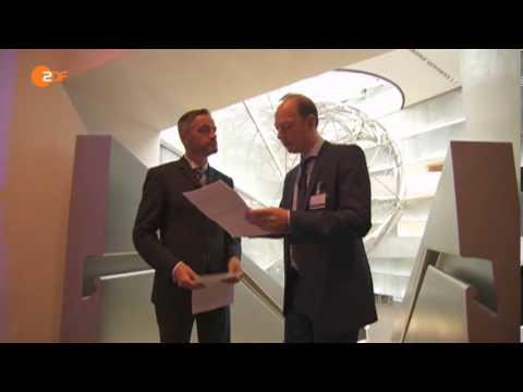 Martin Sonneborn bei der Deutschen Bank mit vorgeschriebenem Interview