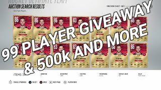 NHL 18 - 500k GIVEAWAY + ANY 99 PLAYER GIVEAWAY