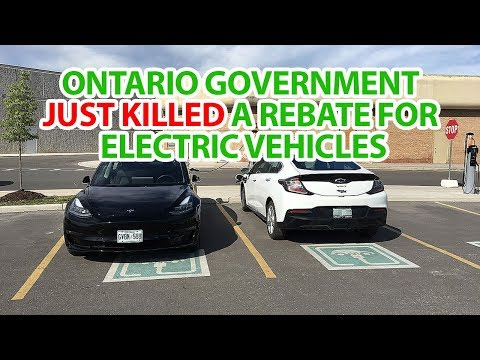 Ontario government just killed a rebate for electric vehicles
