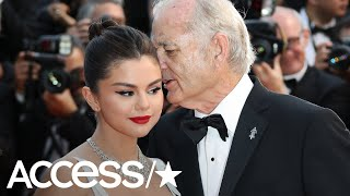 """Selena gomez stopped by """"live with kelly and ryan"""" opened up about the viral moment when bill murray whispered in her ear at cannes film festival. pl..."""