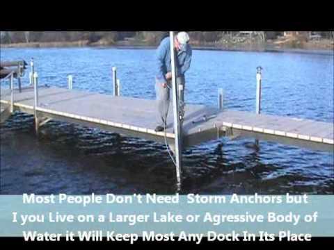 V Dock 2nd Gen Storm Anchors Youtube
