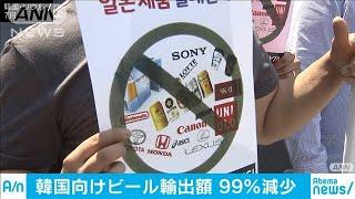 韓国向けビールの輸出額が99%減 不買運動が影響(19/10/30)