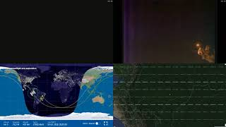 Sunset And Radiation Over America - NASA/ESA ISS LIVE Space Station With Map - 208 - 2018-10-14