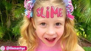 Nastya and dad made a slime - monster