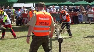 XIX Międzynarodowe Zawody Drwali w Bobrowej 2018 - okrzesywanie I