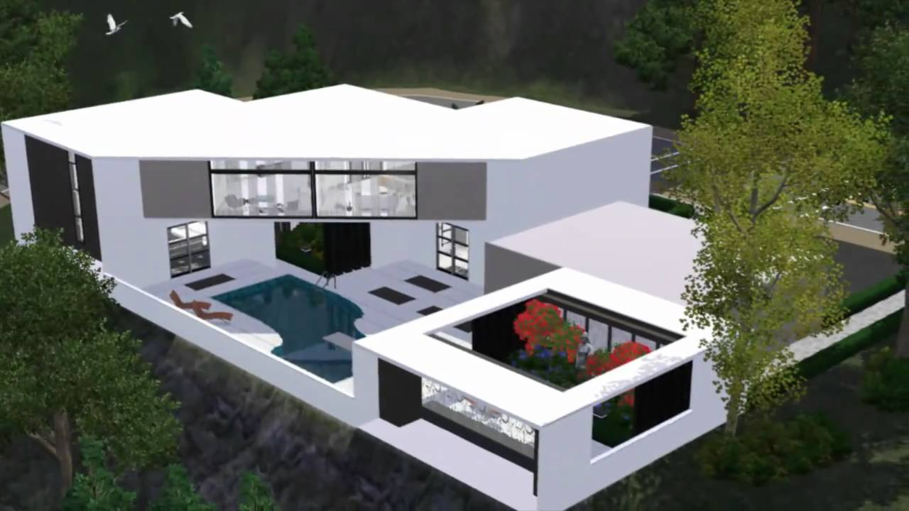 The sims 3 house modern scenic home hd youtube for Modern house hd