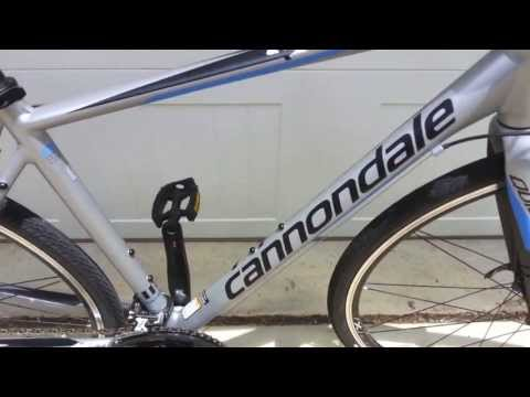 dca4e478fe9 Cannondale Quick 4 hybrid bicycle - YouTube