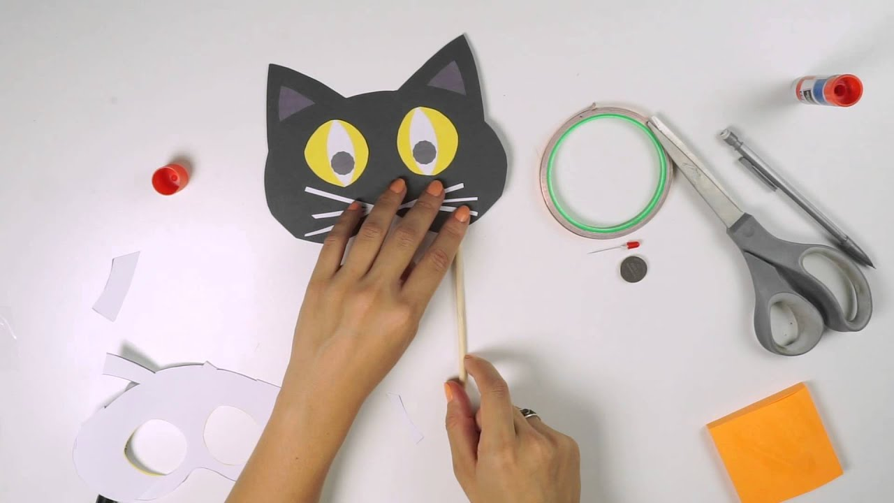 Uncategorized How To Make A Cat Mask paper circuit light up cat mask youtube mask