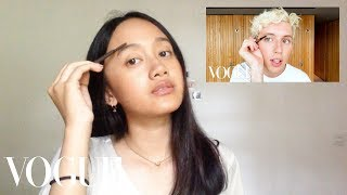 I Tried Following Troye Sivan's Vogue Makeup Routine