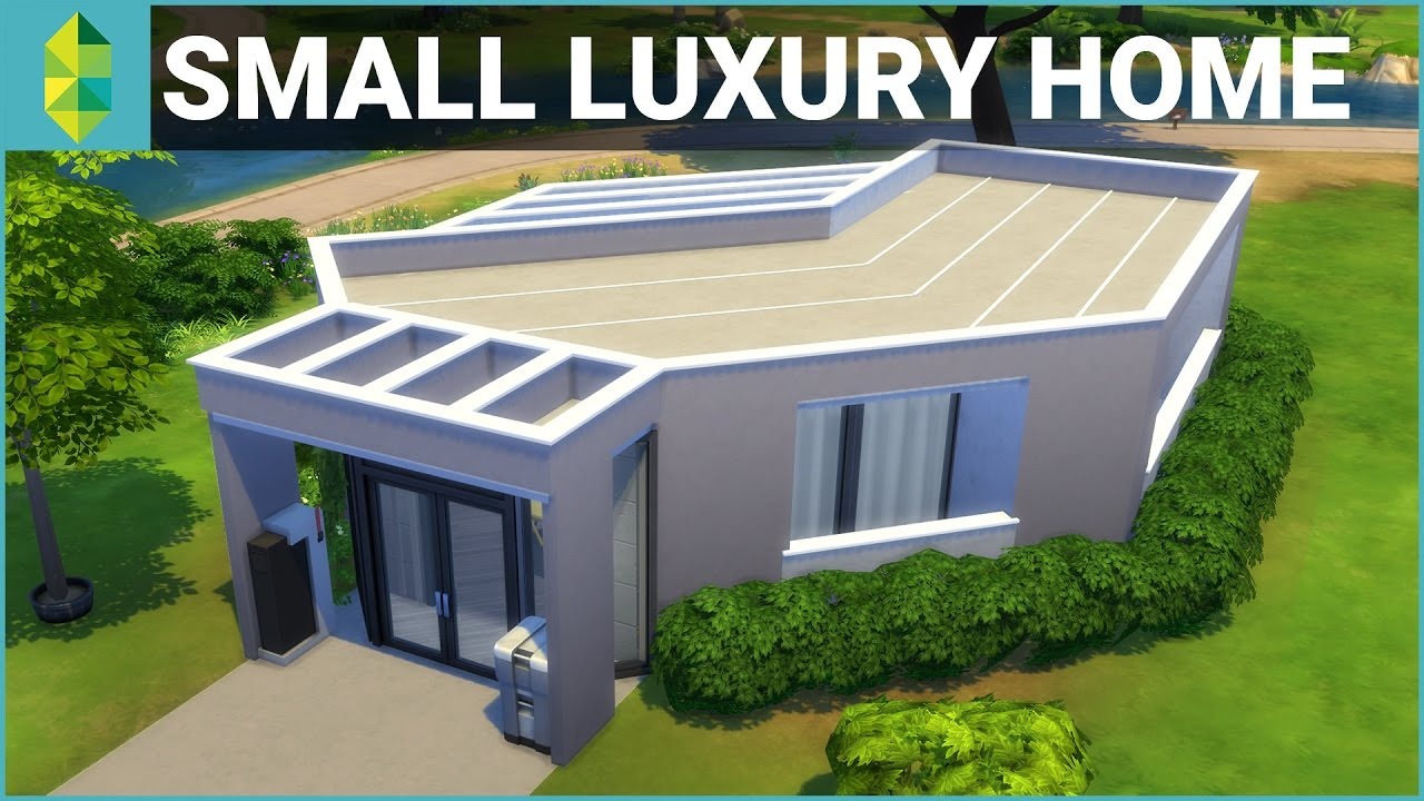 The Sims 4 House Building Small Luxury Home Youtube