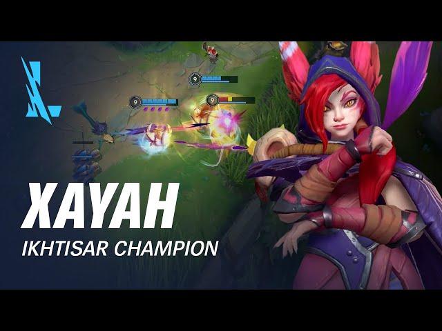 Ikhtisar Champion Xayah | Pola Permainan - League of Legends: Wild Rift