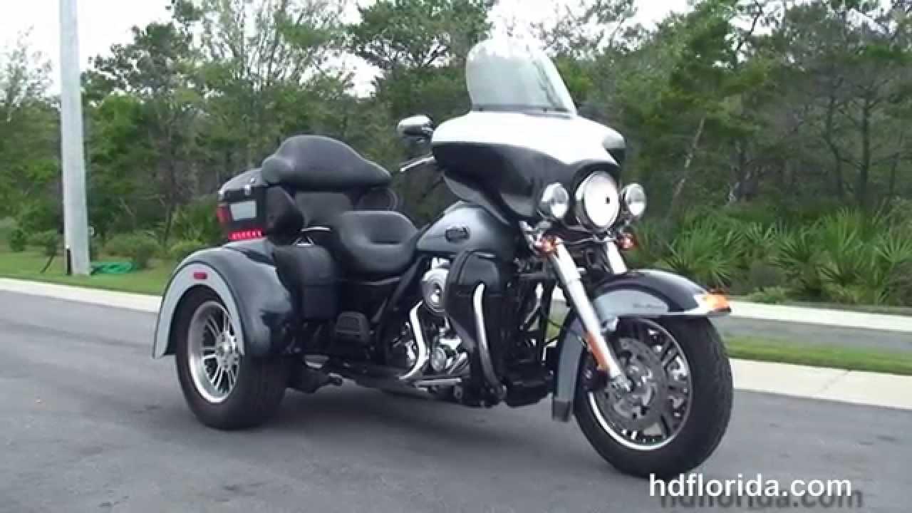 used 2013 harley davidson three wheeler tri glide motorcycles for sale lakeland fl youtube. Black Bedroom Furniture Sets. Home Design Ideas