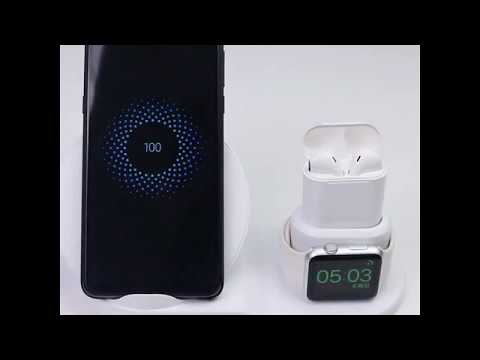 Fast Charge 3 In 1 Wireless Charging Stationfor IPhone IWatch & Airpods  | Www.fastchargestore.com
