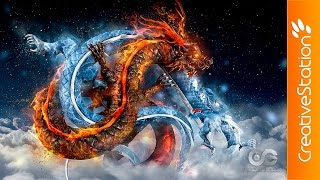 Fire And Ice - 3D Speed art (#ZBrush, #Photoshop) | CreativeStation