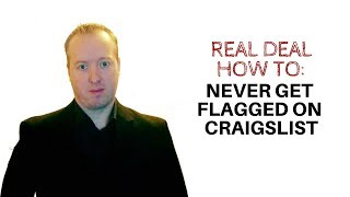 How To Post An Ad On Craigslist And NEVER Get Flagged Again