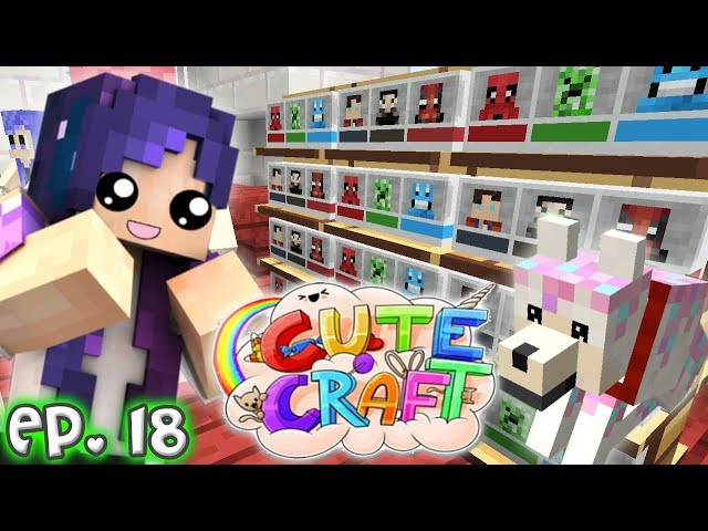 MiniHeads Shopping Spree... Kinda | CuteCraft Minecraft SMP - Ep. 18