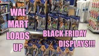 WWE ACTION INSIDER: Walmart WRESTLING FIGURE Displays! Mattel Elite 31, Superstars 43, Best of 2014!