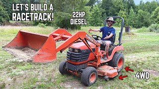 I Bought the CHEAPEST Front Loader Tractor on Facebook... Let's BUILD A RACETRACK!