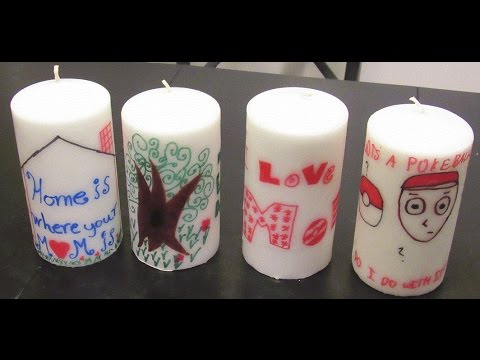 Kids Can Make Personalized Candles Youtube
